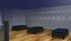 Men's locker area